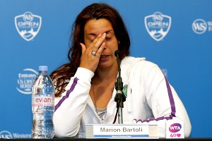 Marion Bartoli, 28, retired Wednesday, saying she could no longer deal with the continuous pain on the court.