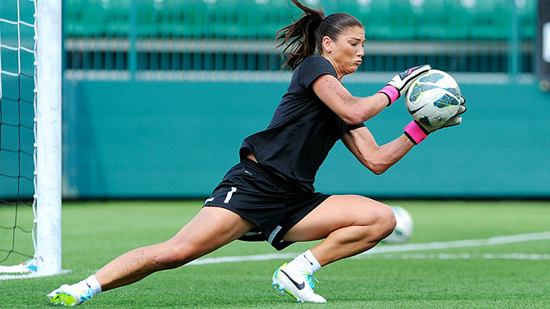 To date, Hope Solo has appeared in 152 games with the U.S. women's national team. She is second all-time in U.S. Soccer women's goalkeeping history in caps and wins. She is also the goalie for the NWSL's Seattle Reign FC, which leads the league this season with an 11-0-2 record. Solo has started 11 games.