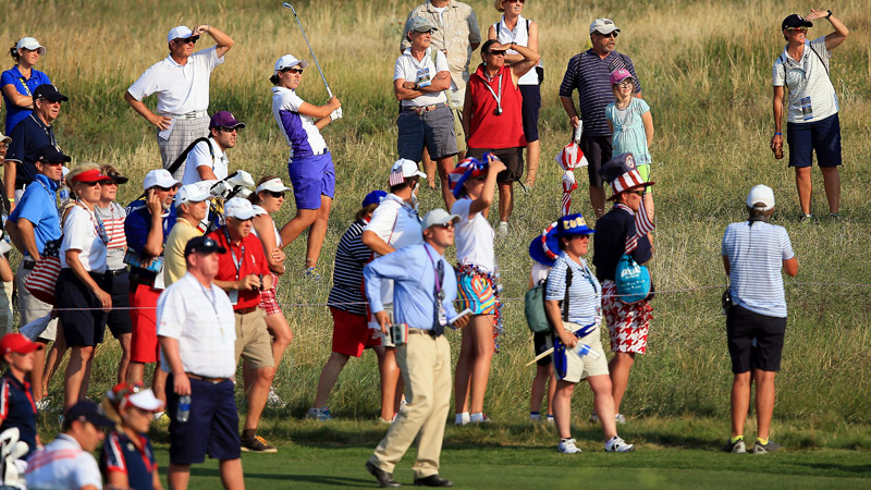 When Carlota Ciganda hit her shot into a hazard on the 15th hole, officials took nearly a half hour to make a ruling on her drop -- a ruling that proved to be wrong.