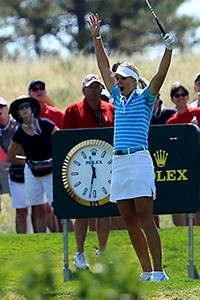 Heres one way to win a match: Anna Nordqvist hit a hole-in-one on No. 17 to clinch hers.