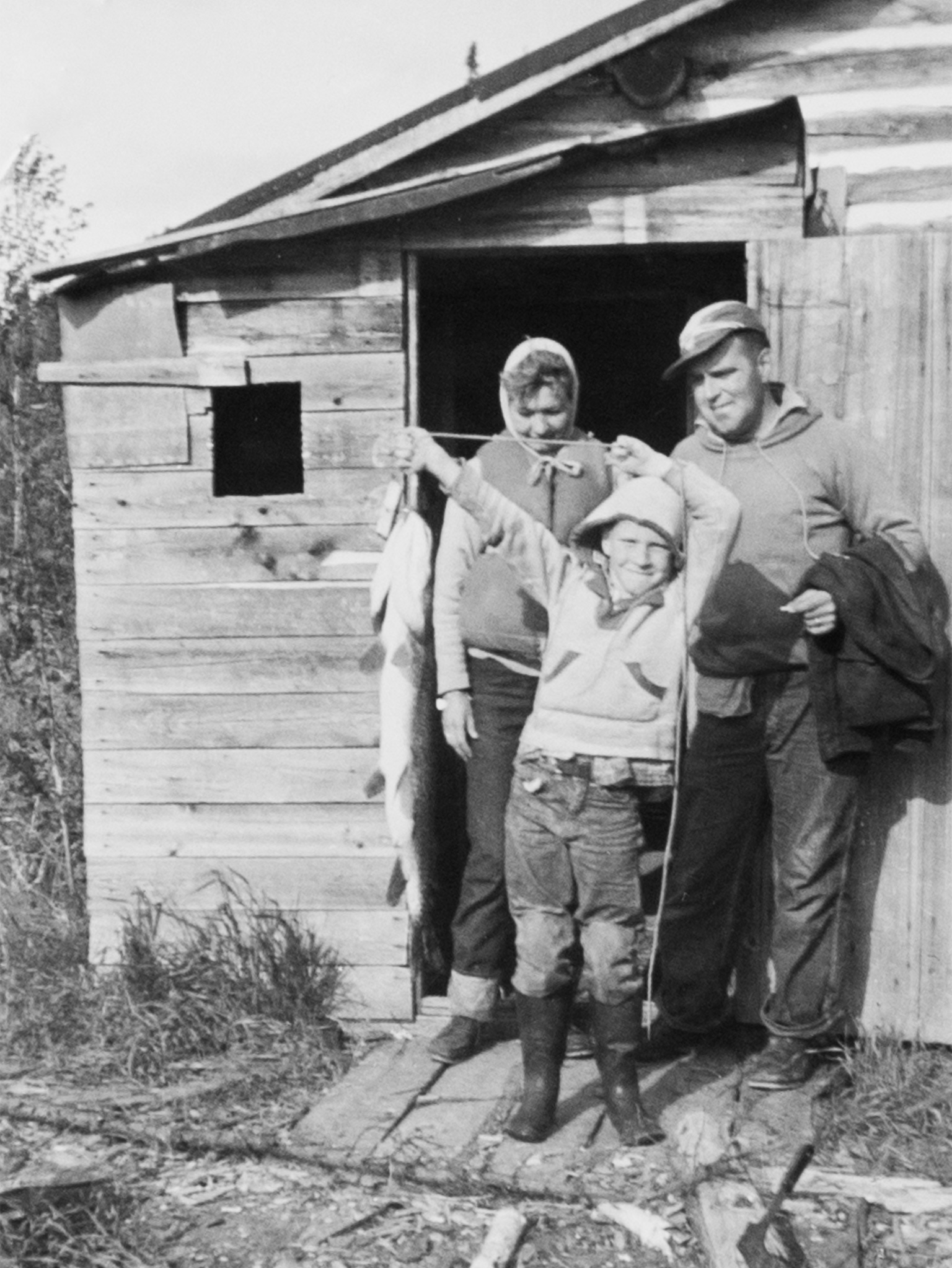 Dan Gable and his parents, 1958