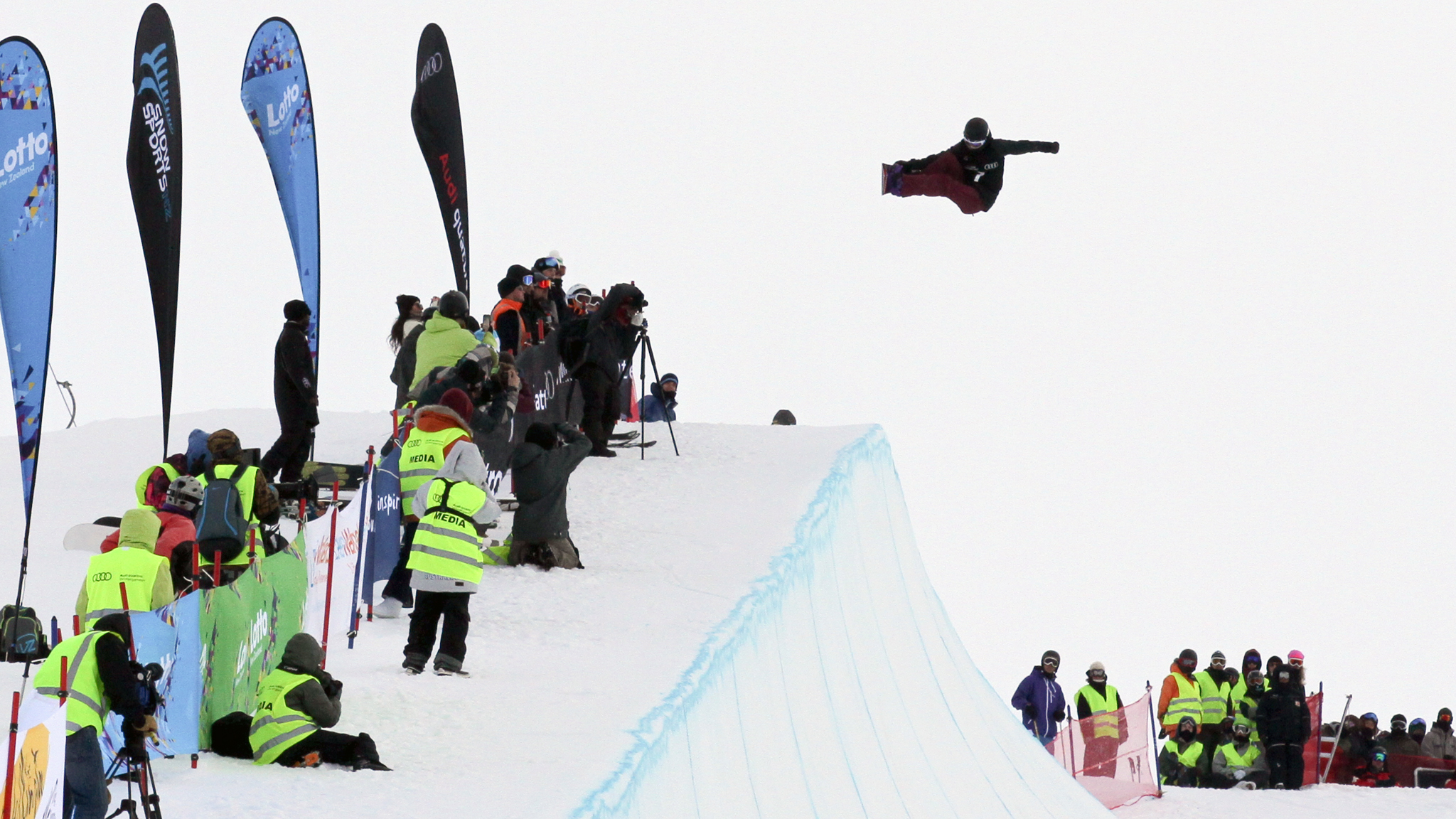 Kelly Clark claimed her 61st World Cup victory Saturday at the New Zealand Winter Games.