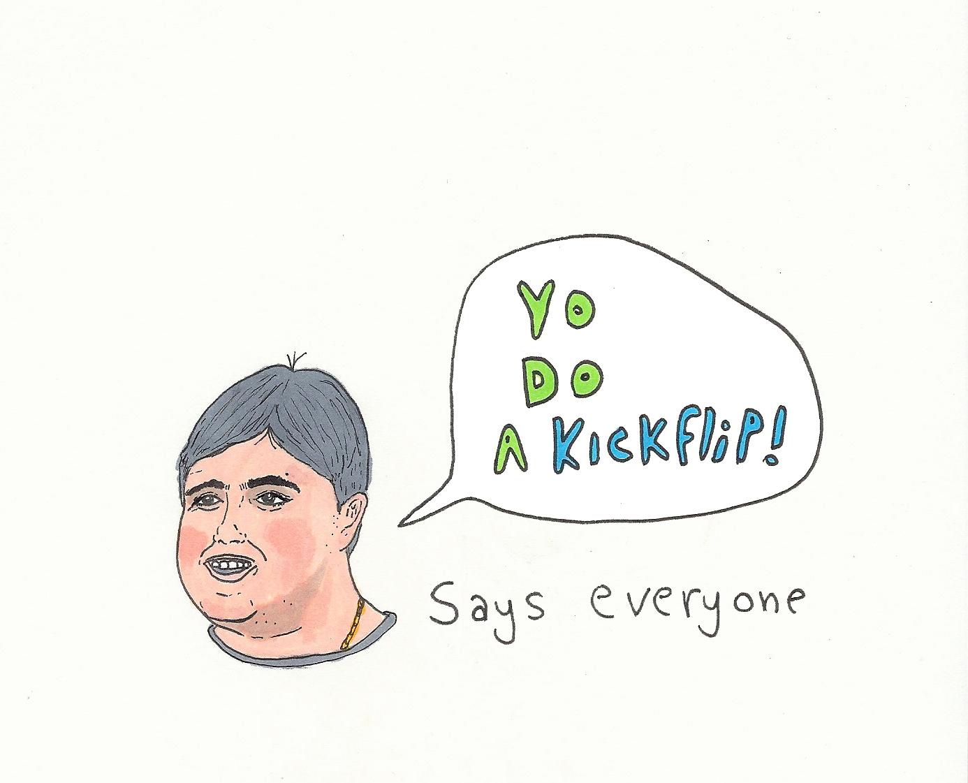 Do a Kickflip