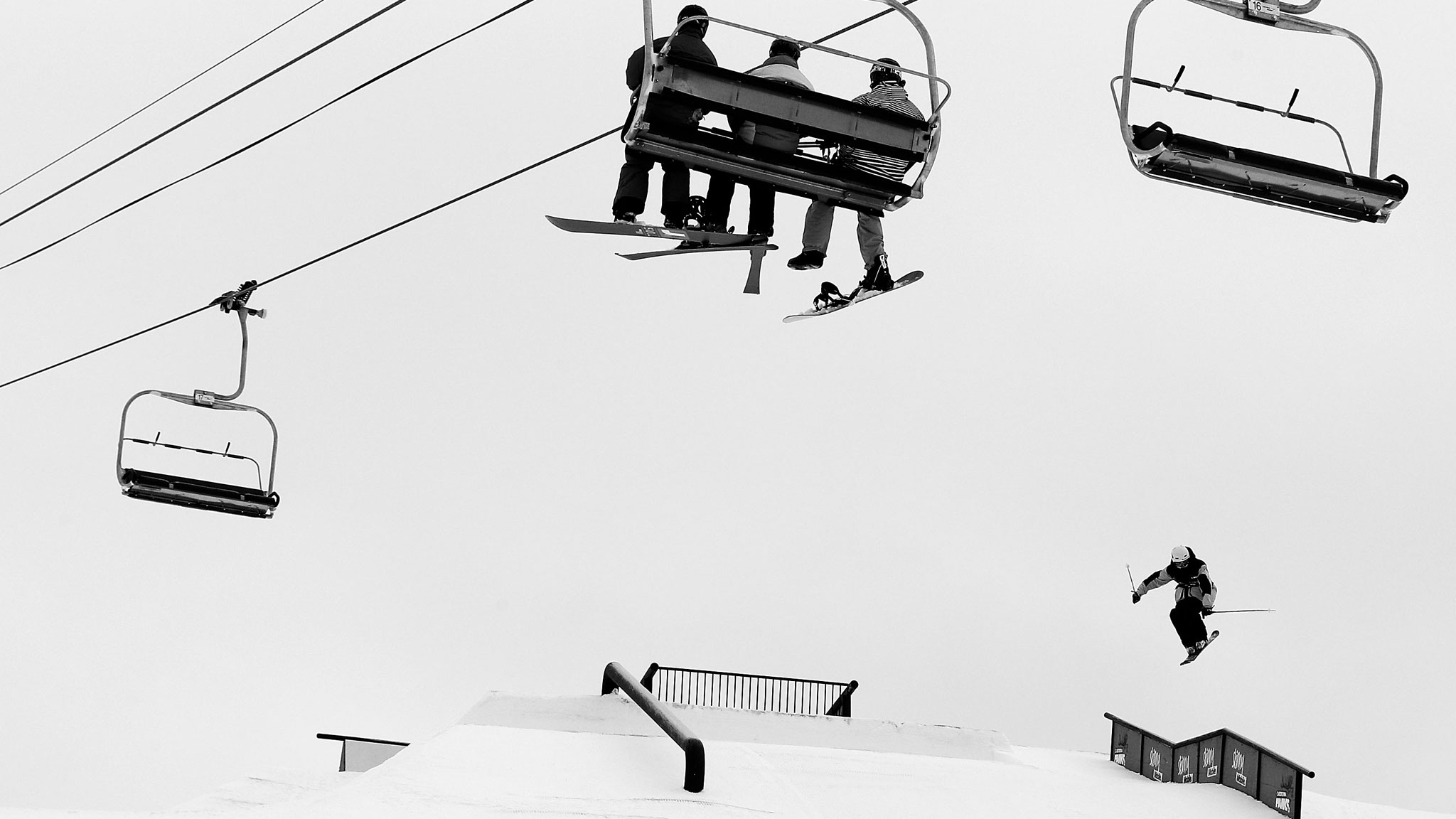 Noah Morrison competing in the FIS World Cup slopestyle contest Sunday in New Zealand.
