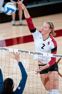 A 6-foot-2 middle blocker, Carly Wopat was a first-team All-American last season as a junior and is a key member of a Cardinal team that is ranked No. 3 this year.