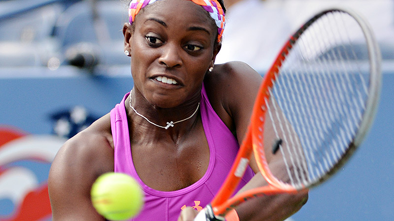 Sloane Stephens barely survived the first round at her home Grand Slam event.