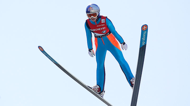 Women's ski jumping is making its debut in Sochi, and the reigning world champion made it back from knee surgery just in time. After tearing her ACL and MCL during training in August, a gold medal in Sochi in February would certainly be one of the feel-good stories of the Games. i(Photo by Getty Images)/i
