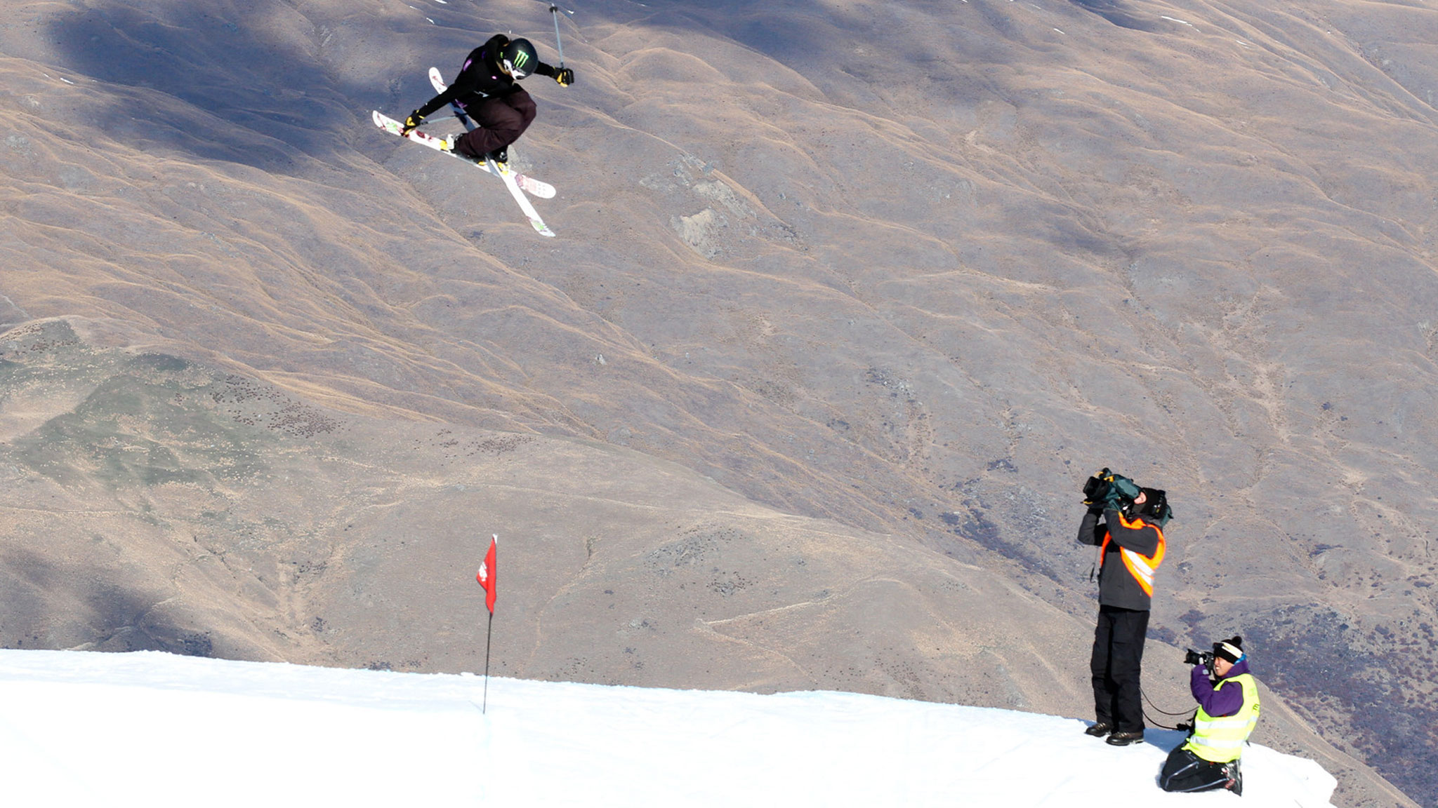 Maggie Voisin competing recently in the World Cup Slopestyle contest in New Zealand.