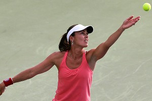 Martina Hingis came out of retirement to play doubles at the US Open, and admitted her body wasn't used to playing competitive tennis again.