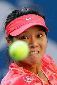 Li Na admitted to being nervous in the semifinal against Serena Williams, saying she couldn't seem to focus.