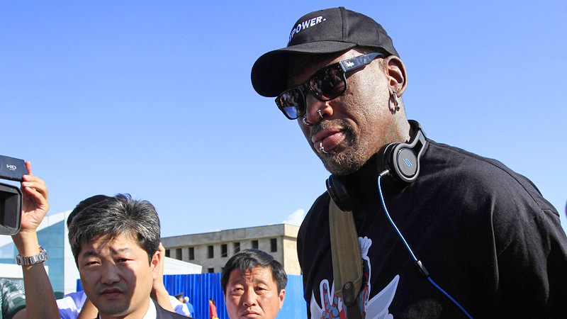 Anyone looking for a league? Dennis Rodman is back in North Korea with an unclear agenda.