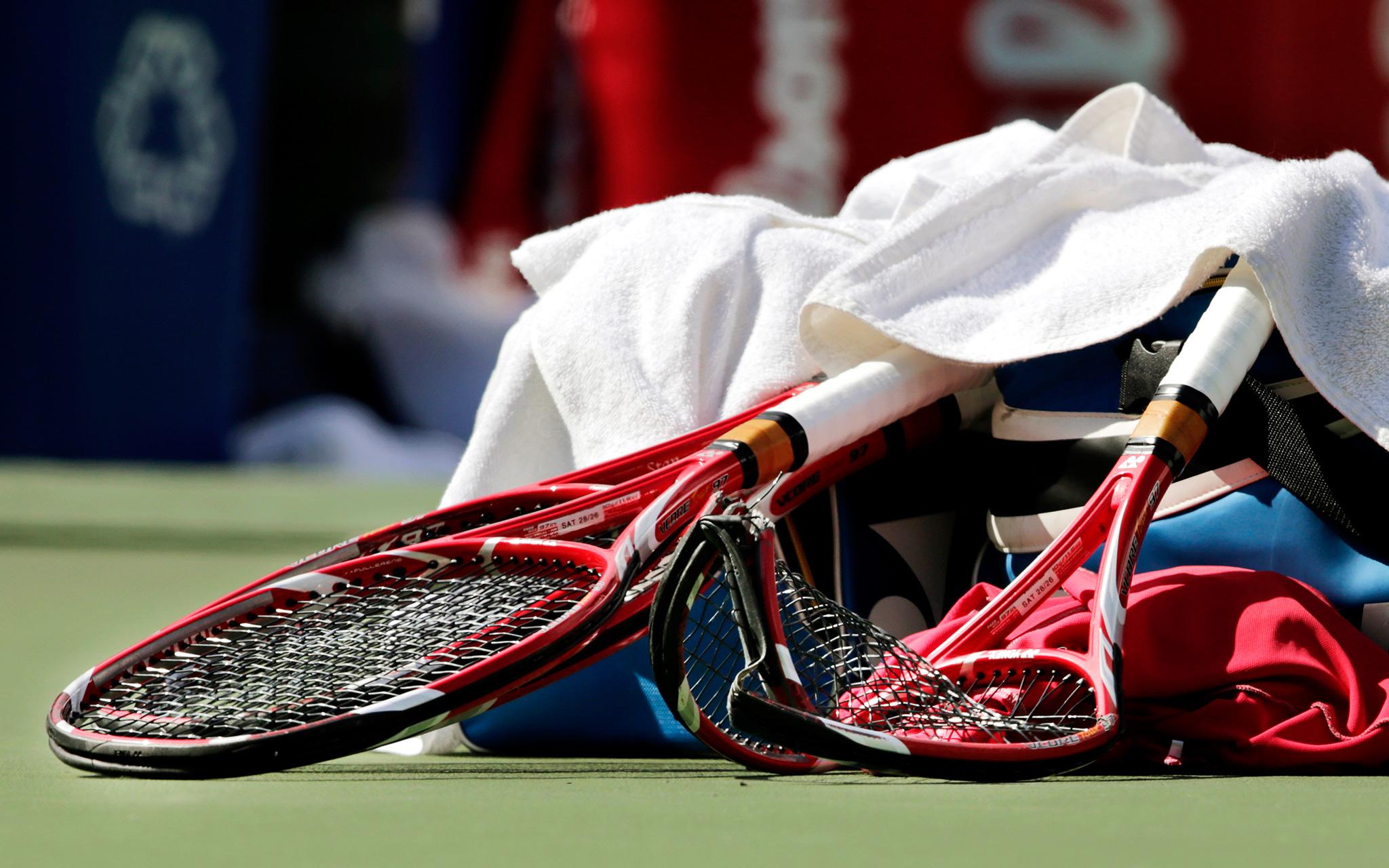 Broken racket