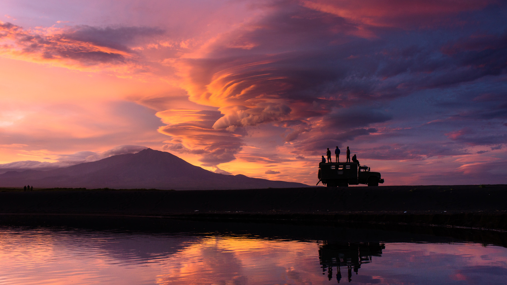 Sunset on the Kamchatka