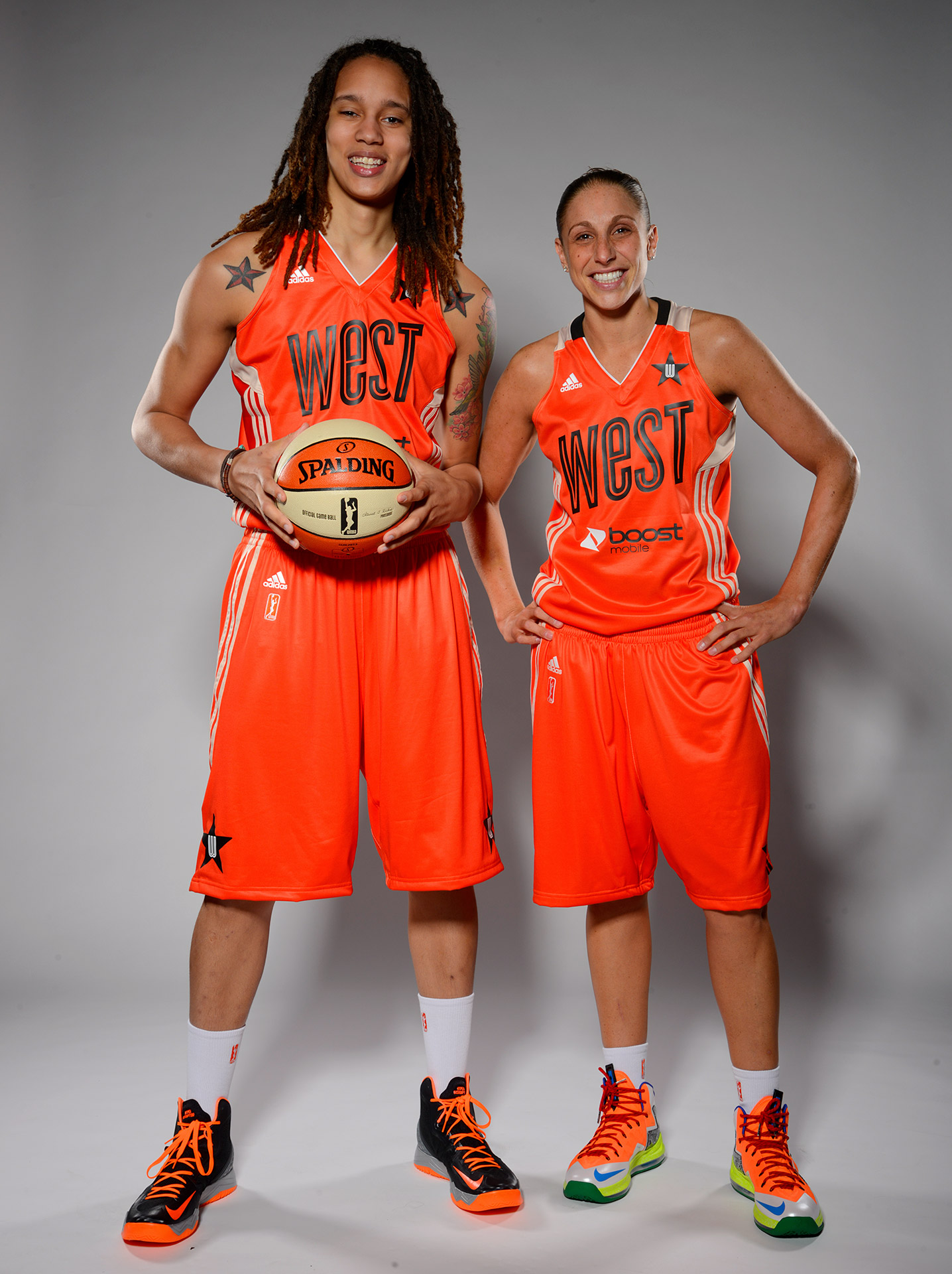 Brittney Griner and Diana Taurasi were both voted Western Conference starters for the 2013 WNBA All-Star Game, but Griner was unable to play because of an injured knee.