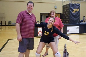 Emily Young was excited to share her family with her USC volleyball family.