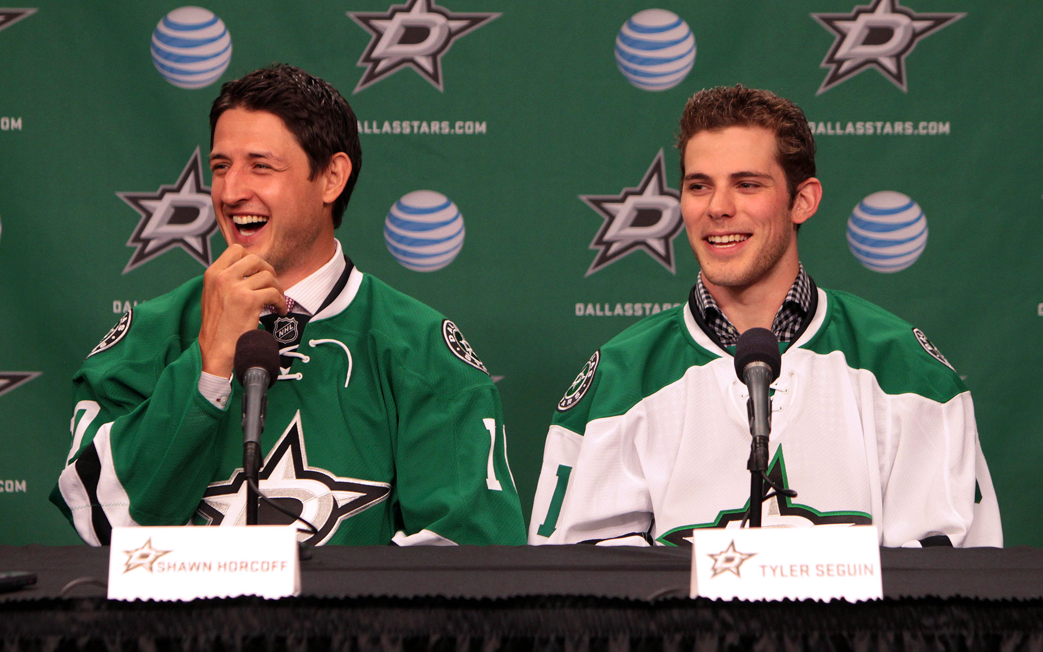 Shawn Horcoff and Tyler Seguin in Dallas