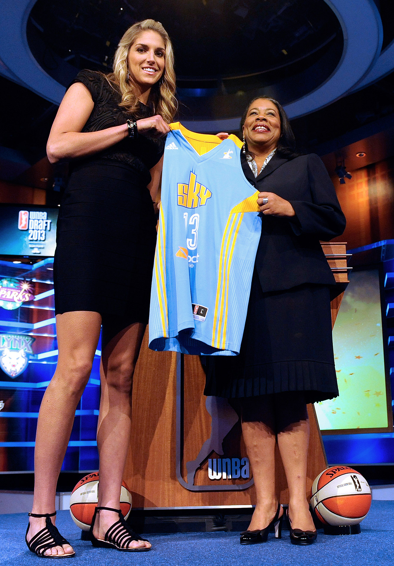 Elena Delle Donne was the second overall selection -- behind Brittney Griner -- in the 2013 WNBA draft.