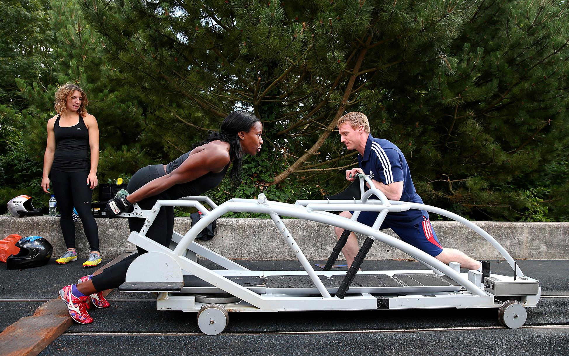 Great Britain Bobsleigh Training