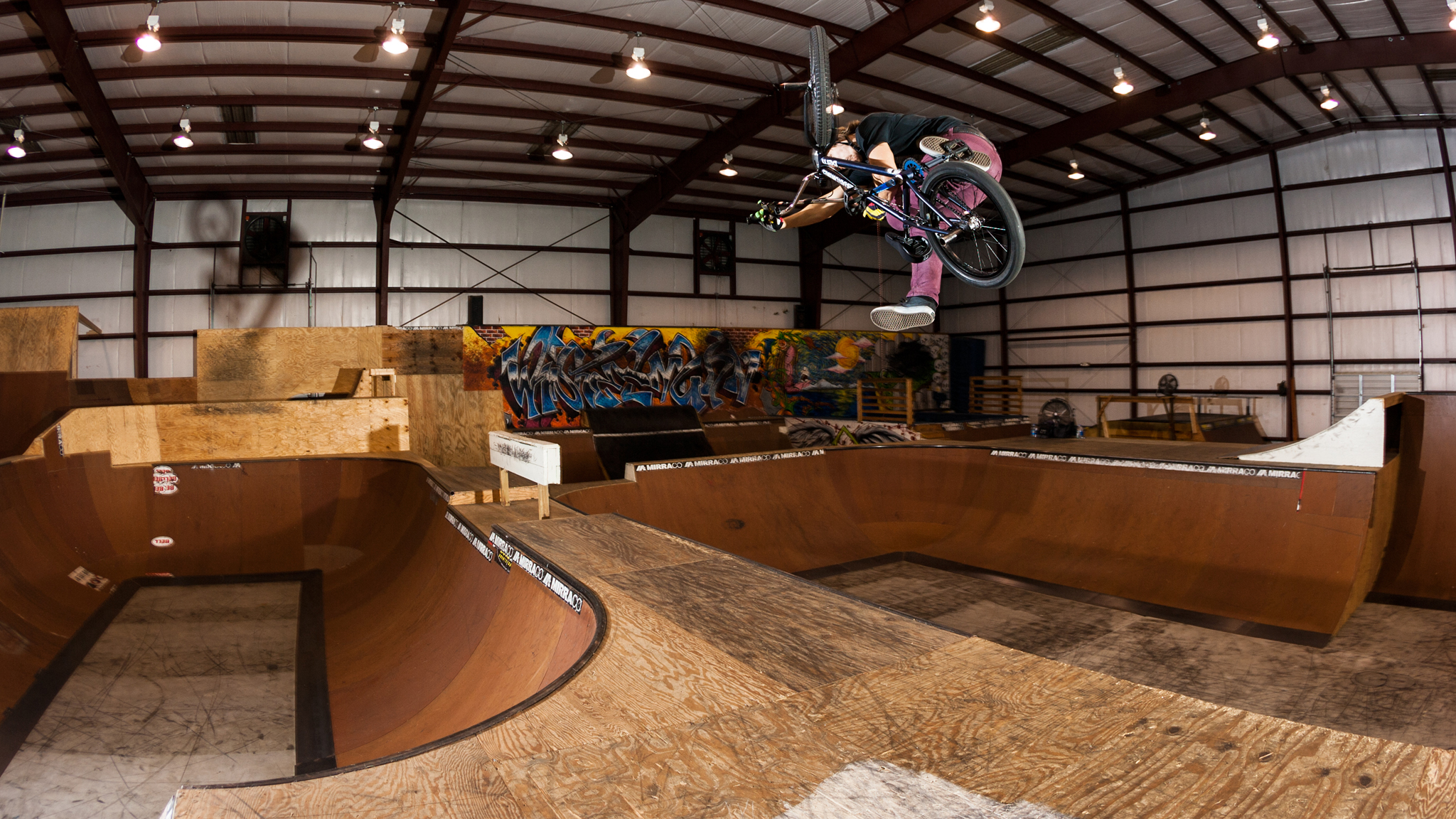 Josh Perry, one-footed tabletop transfer
