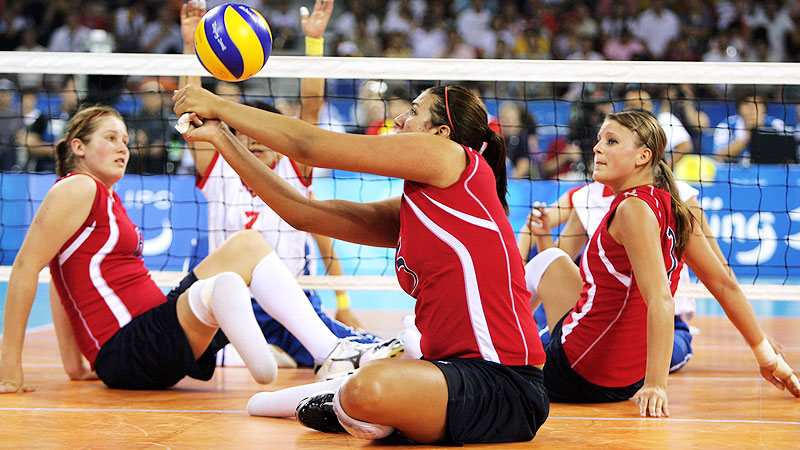 The reigning two-time winner of USA Volleyball's Female Athlete of the Year for sitting volleyball, Katie Holloway led Team USA to gold at the Masters Tournament in December and was named the event MVP. In May, she continued to help the team as it swept a series of exhibition matches against the Russian national team.