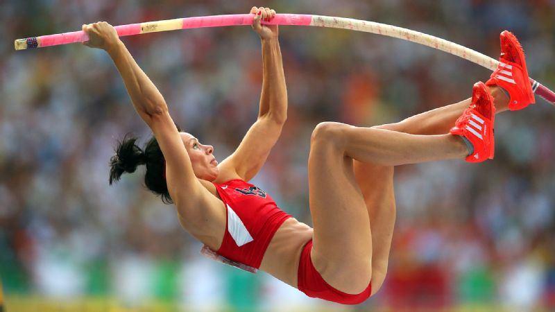 We think successfully getting over the bar in pole vaulting is an achievement in itself worth writing about. And somehow Jenn Suhr finds a way to not only make it look easy, but to get over the world-record height of 5.02 meters, or roughly the size of three of Gabby Douglases. Ranked No. 1 in the world, Suhr is the reigning U.S. indoor and outdoor champion and placed in the top three in virtually every competition she entered in 2013.