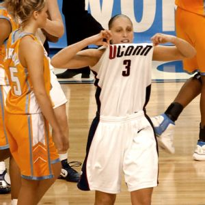 Diana Taurasi won three straight NCAA titles at Connecticut.