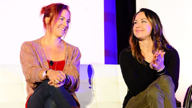 Alana Nichols, right, joined the Summit stage with Elena Hight to discuss the upcoming Sochi Olympics and Paralympics.