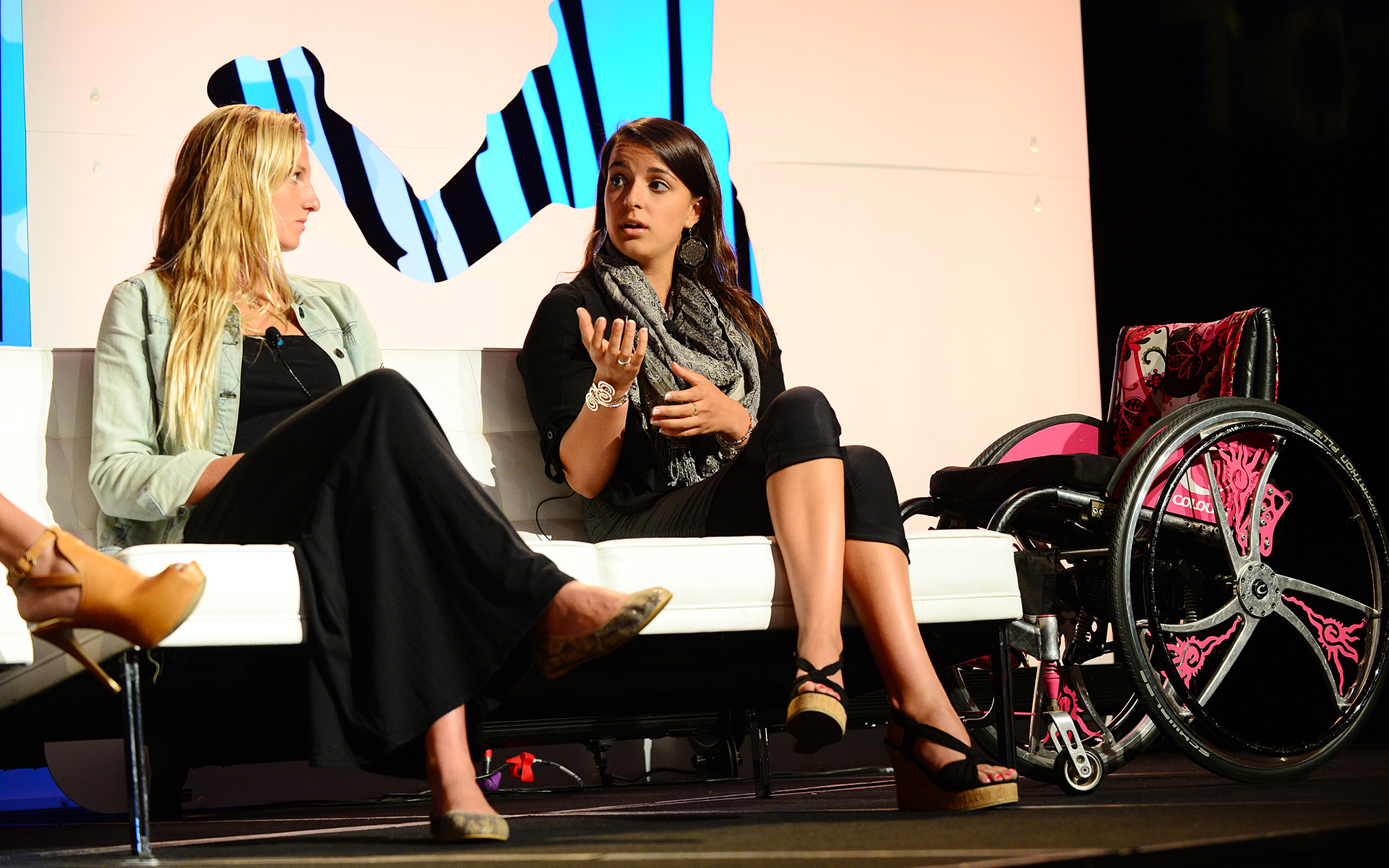 Surfer Lakey Peterson and Paralympic swimmer Victoria Arlen shared their stories during the Future panel.