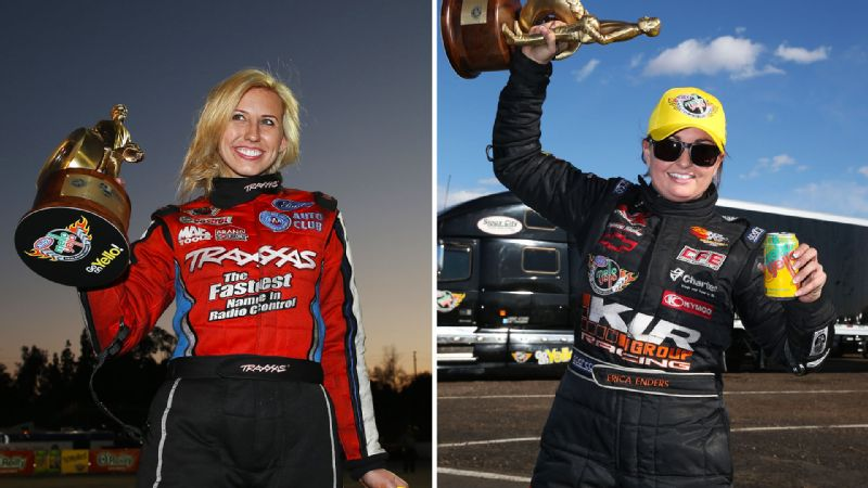 Courtney Force and Erica Enders-Stevens have won races this season, and while that would be major news in IndyCar or NASCAR, its common in NHRA.