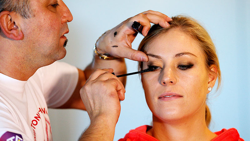 Angelique Kerber, fresh off her lone title of the season, is probably hoping her fierce smoky eyes will intimidate her competitors.
