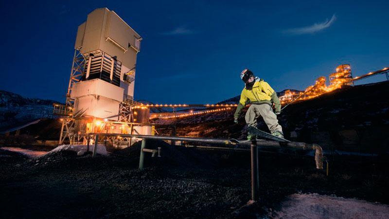 Aidan Sheahan at the Elk Creek Coal Mine, where Aspen Skiing Company will be capturing methane waste to power their ski resorts.