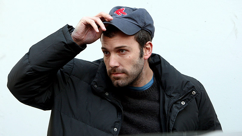 Is noted Red Sox fan Ben Affleck trying a new team on for size? Just hours before Game 1 of the World Series at Fenway?