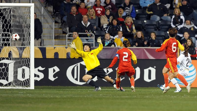 Alex Morgan scored her first career goal to help rally the U.S. to a 1-1 draw with China at PPL Park in Chester, Pa.