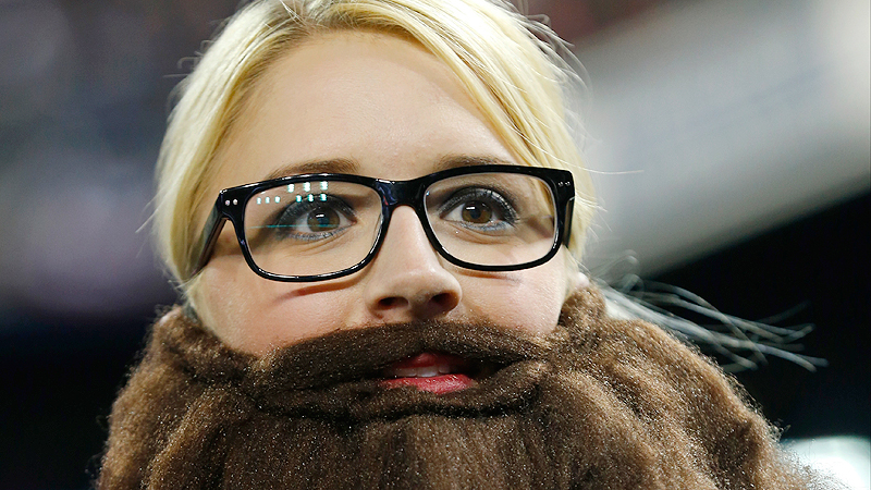 Even the fans lacking an ability to grow facial hair have gotten involved in the beard madness. Matching hair color, be damned!