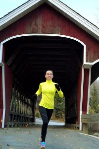 Ashley Freiberg training for NYC Marathon