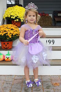 Christie Rampone's daughter, Reece, dressed up as Princess Sofia for Halloween.