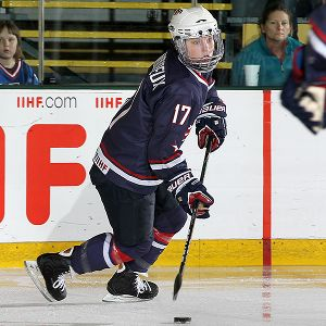 Jocelyne Lamoureux has had 35 goals and 53 assists for Team USA since 2006, including two goals and four assists at the 2010 Vancouver Olympics.