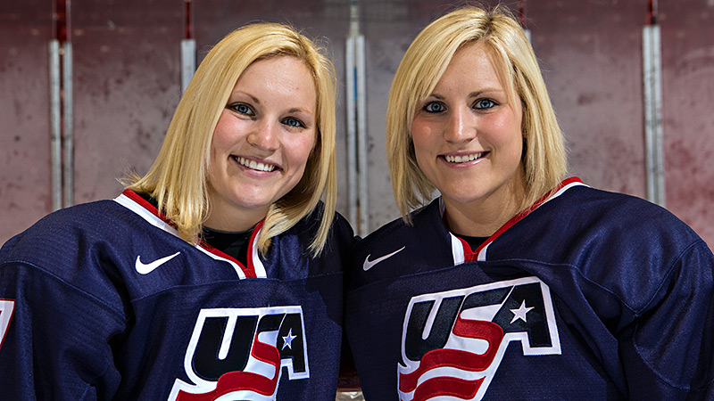 On April 15, 2013, the city of Grand Forks, N.D., honored the twins by celebrating Jocelyne (left) and Monique Lamoureux Day.