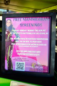 More than 100 women took advantage of the free mammograms offered during NHRA Toyota Nationals race weekend.