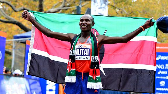 Geoffrey Mutai hopes to become just the third man ever to win three straight NYC Marathons.