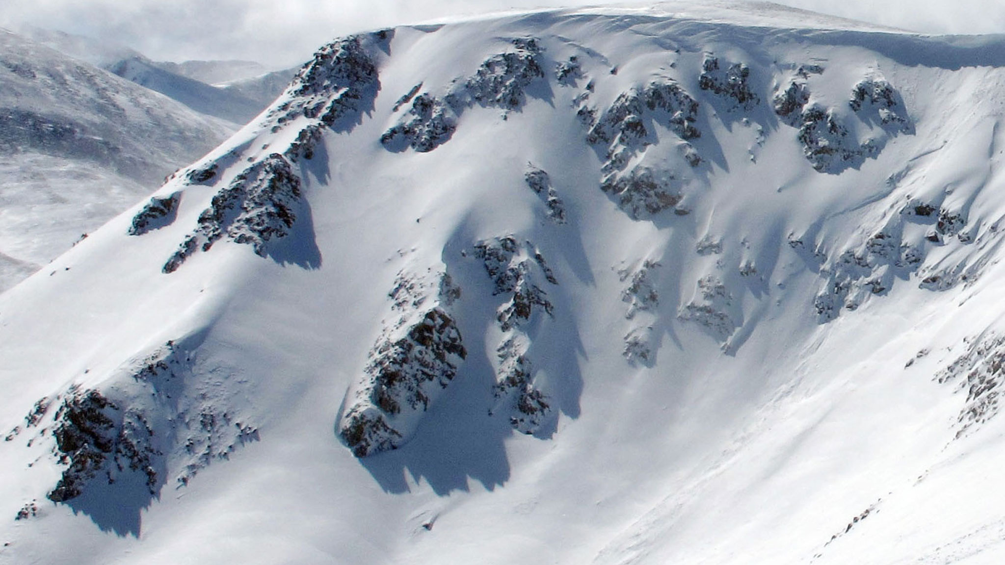 This is the north-facing cirque that dozens of skiers were dropping in April, many without avalanche-rescue gear. The terrain will be inbounds and lift accessed this winter, but another, steeper cirque lurks just north of Breckenridge's new boundary.