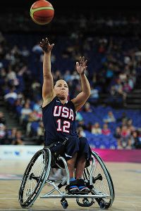 The alternate to the 2004 Paralympics, Alana Nichols earned gold with the U.S. wheelchair basketball team in Beijing in 2008.
