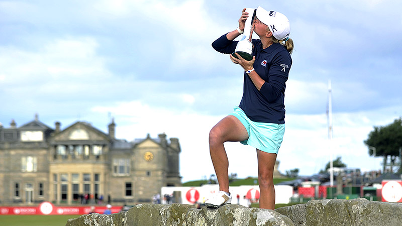 Stacy Lewis finished birdie-birdie to win the Womens British Open in August at the venerable Old Course at St. Andrews. It was the second major of her career and ended a streak of 10 straight won by Asian players.