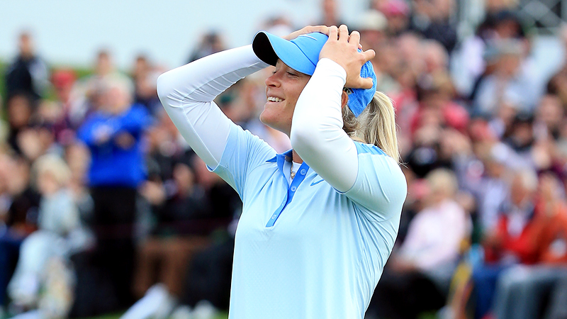 The Evian Championship became the tours fifth major beginning in 2013, and Suzann Pettersen benefited by winning and claiming her second major title. With the win, she moved up to No. 2 in the world.