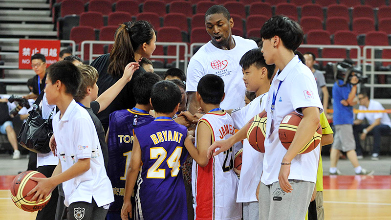 Back in June, months before World Kindness Day, Knicks forward Metta World Peace spread love by playing basketball with kids in China.