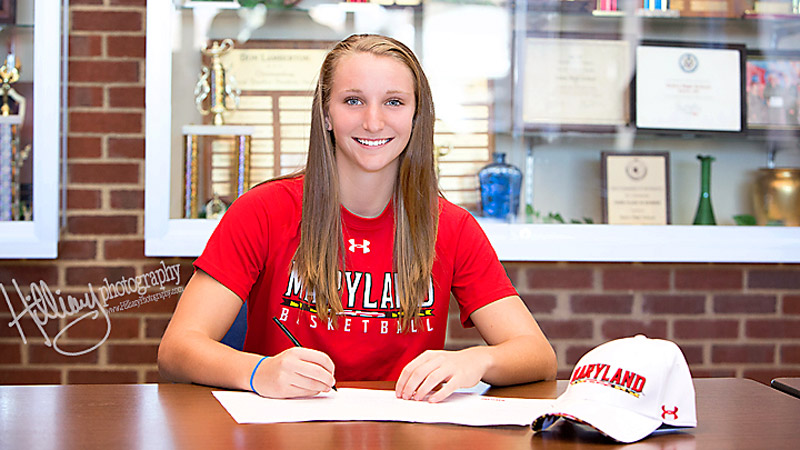 Kristen Confroy, a 5-foot-8 three-star guard out of Ohio whose stock has been soaring, signed a national letter of intent on Wednesday to play at Maryland. Said Confroy: The University of Maryland is everything I always wanted in a school and in a basketball program. I(Photo Courtesy Kristen Confroy)/I