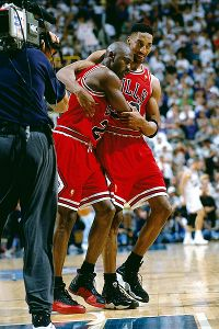 Despite battling flu-like symptoms that nearly forced him to miss the game, Michael Jordan scored 38 points to rally Chicago past Utah in Game 5 of the 1997 NBA Finals.