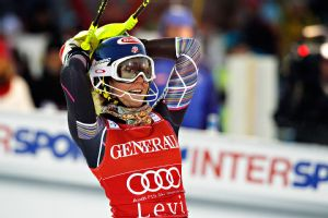 American teenager Mikaela Shiffrin, 18, won the World Cup slalom opener in Finland on Saturday.