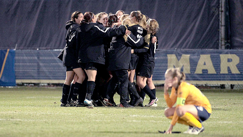WMU soccer celebration