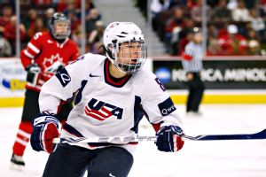 Caitlin Cahow, who played on two U.S. Olympic women's hockey teams, is currently part of the You Can Play project.